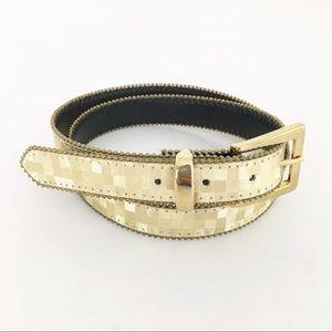 Vintage 80s gold belt skinny rare unusual unique